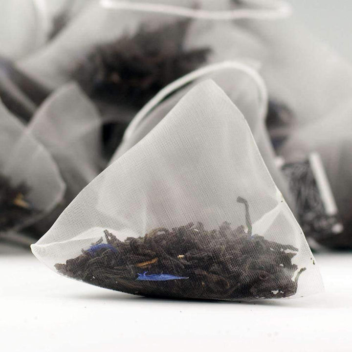 Cream Earl Grey Tea Pyramid Teabags - The Soho Tea Company