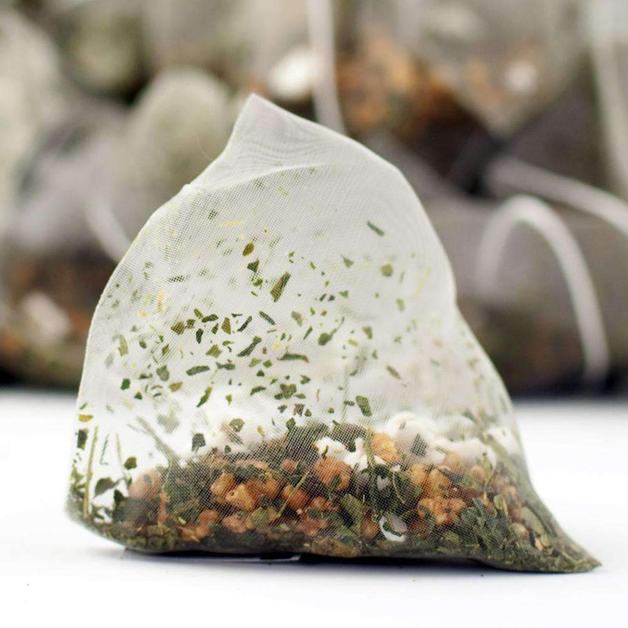 Genmaicha (a.k.a. Popcorn Tea) Pyramid Teabags - The Soho Tea Company