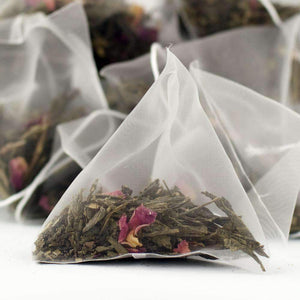 Kaika Cherry Sencha Green Tea - Pyramid Tea Bags - The Soho Tea Company