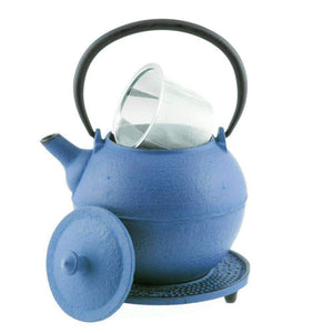 Tetsubin Teapot - Kyoto - Blue - The Soho Tea Company