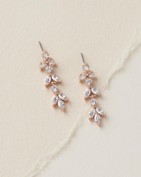 Sydney Floal CZ Earrings