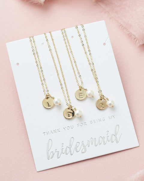 Engraved Initial Jewelry Set (Gold)
