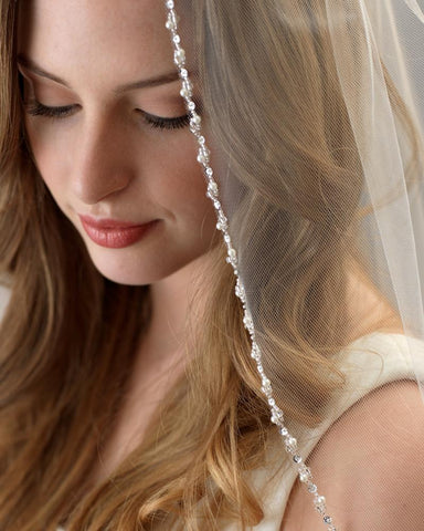 Lily Pearl Beaded Veil