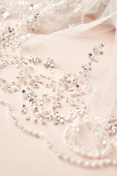 Extravagance Crystal Beaded Veil