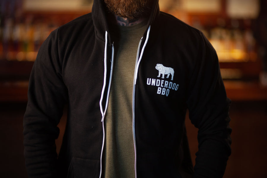 "Underdog BBQ ""Scrappy in the Streets"" Zip up"