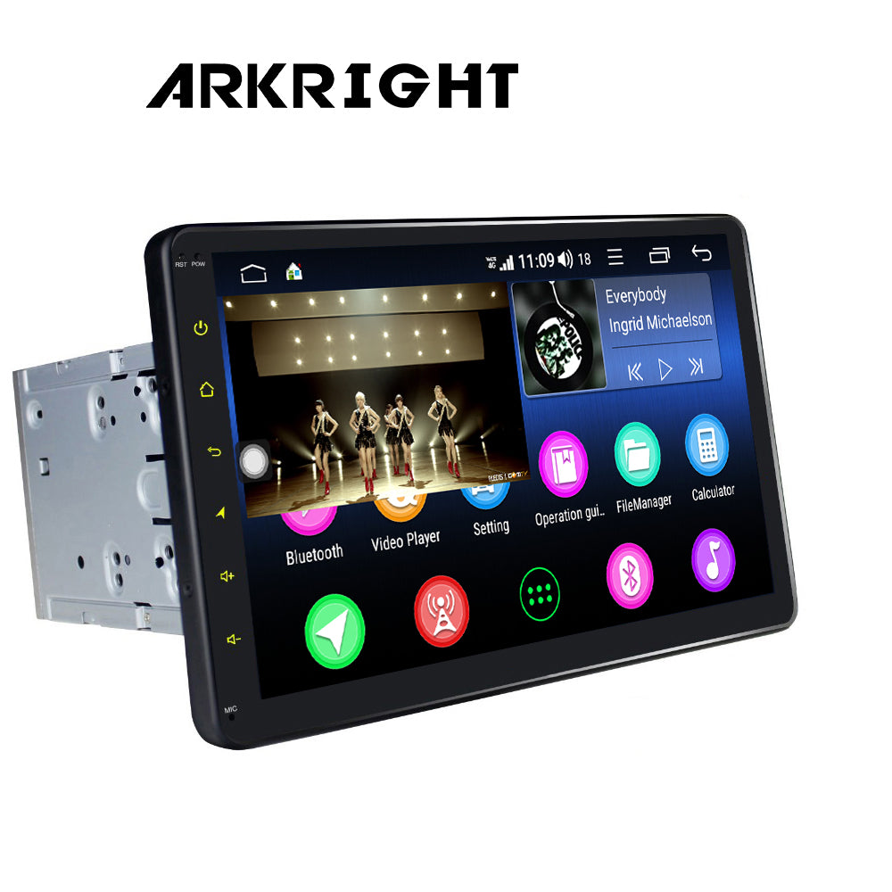 "ARKRIGHT 10.1""2Din Android 8.1 Car Radio Multimedia Player Navigation GPS/DSP/4G"