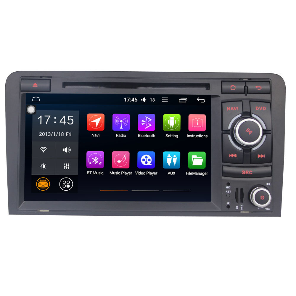 "audi a3 s3 sr car stereo multimedia player 2 din 7"" \u2013 arkrightaudi a3 s3 sr car stereo multimedia player"