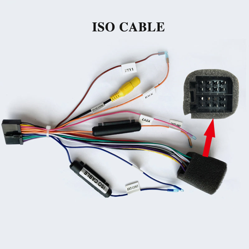 ISO Cable Wiring Harness Only for ARKRIFHT Car Radio Android Device