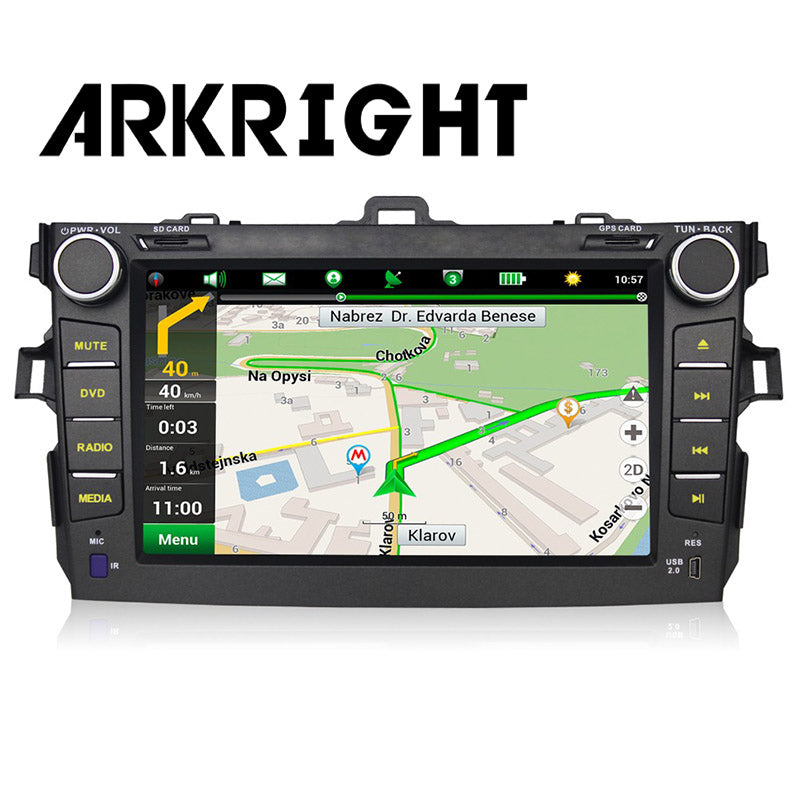 ARKRIGHT  8'' 2 Din Multimedia Player For Toyota Corolla