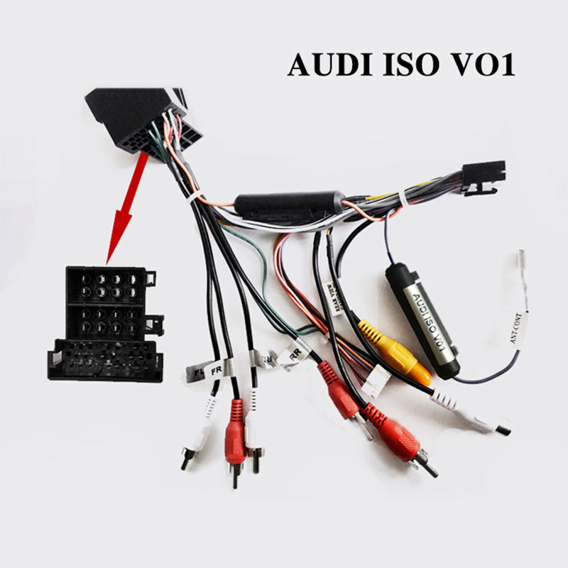 Wiring harness cable/ISO Cable for AUDI only for ARKRIGHT Car Radio Android Device