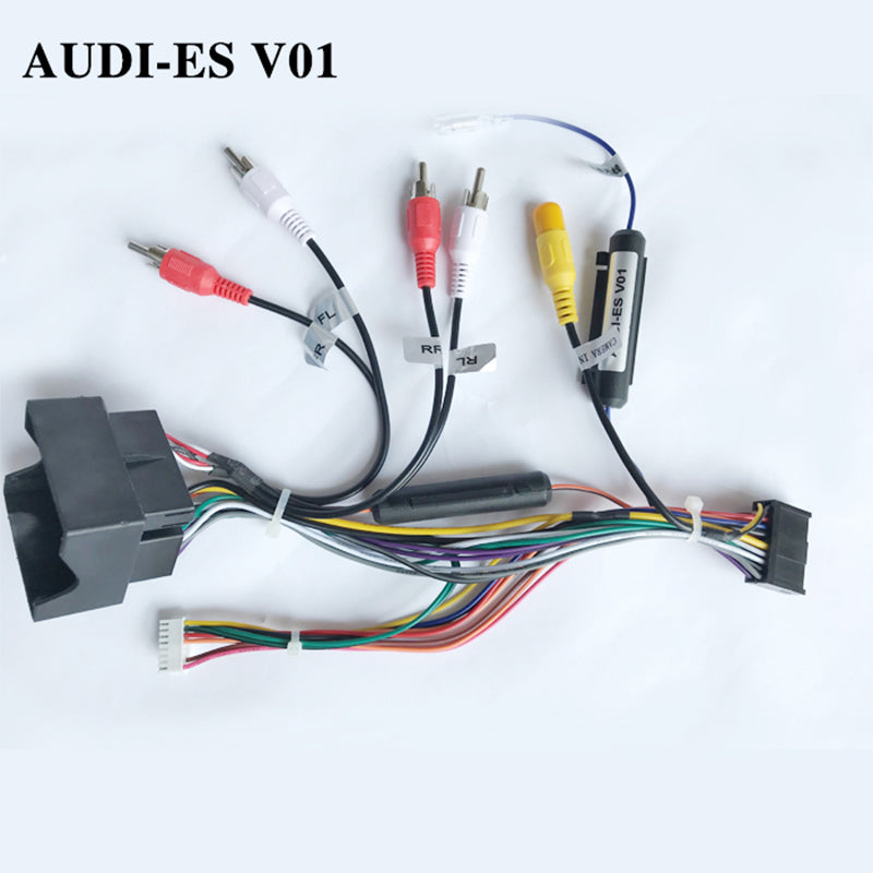 Wiring harness cable for AUDI ESv01 only for ARKRIGHT Car Radio Android Device