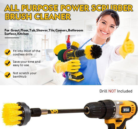 Electric Drill Brush Set