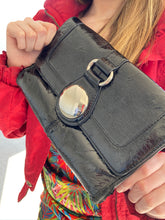 Load image into Gallery viewer, black clutch that is a satchel too