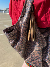 Load image into Gallery viewer, sparkly af animal print bag