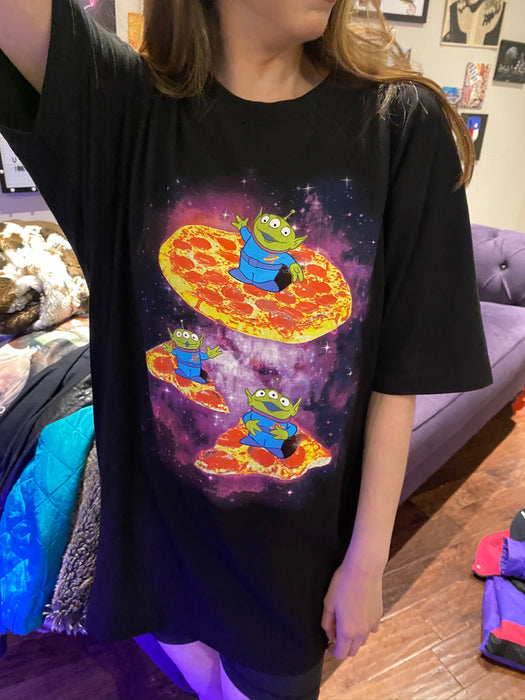 toy story pizza alien tshirt
