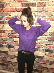 purple me sweater