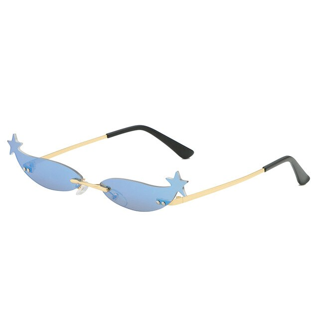 Starry Rimless Cat Eye