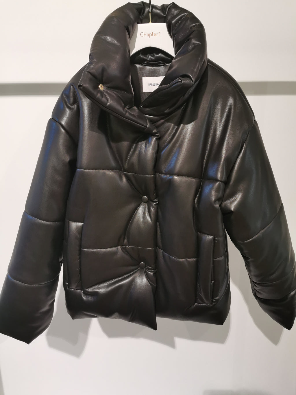 HIDE Puffer jacket Black - NANUSHKA