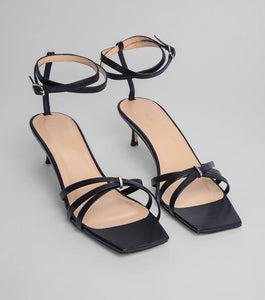 BY FAR - Sandal Kaia Black / White