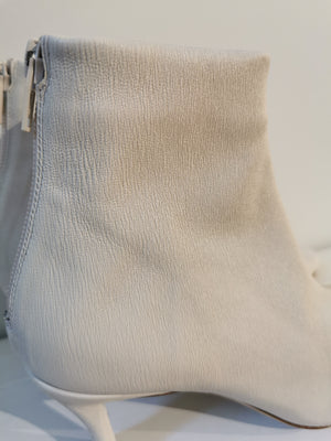 BY FAR - Bottine Stevie  White Leather
