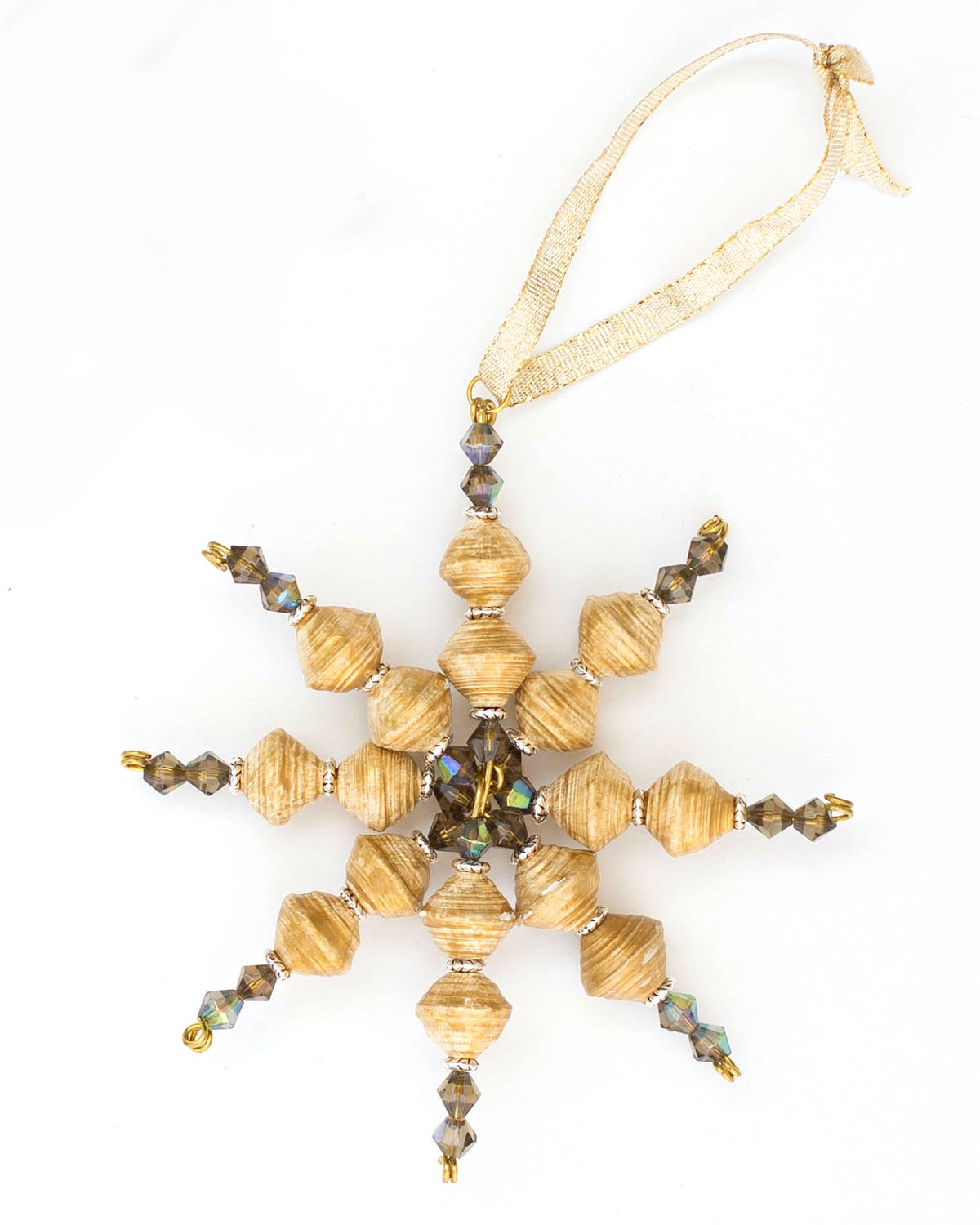 Arella Ornament, Beaded, Made in Haiti
