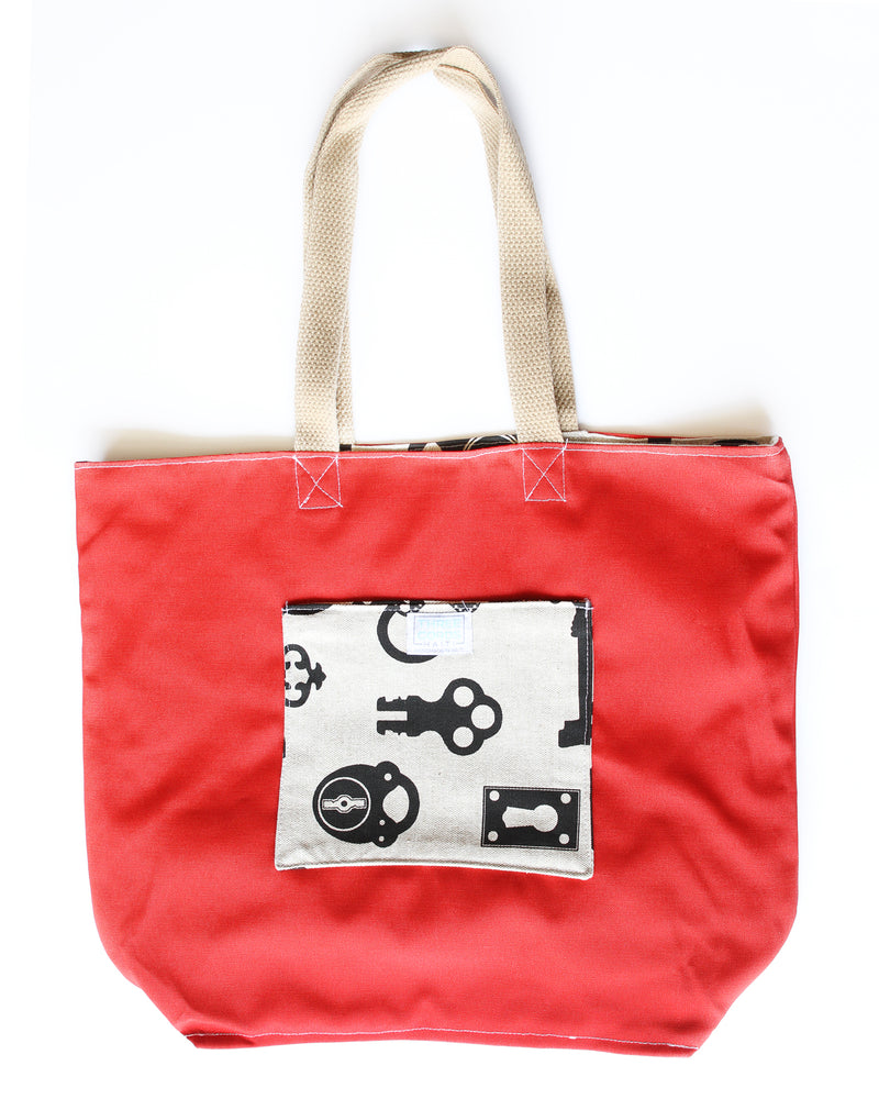 Lock and Key Tote