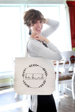 """Be Kind"" Tote Bag - 100% Cotton - Handmade in Haiti"
