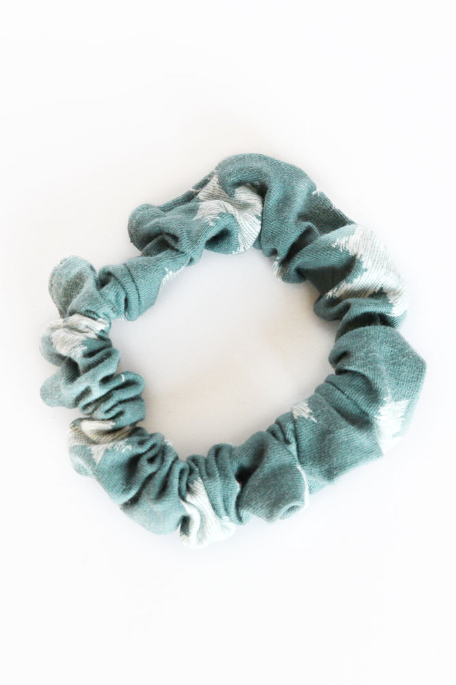 Teal Cross Mini Scrunchie