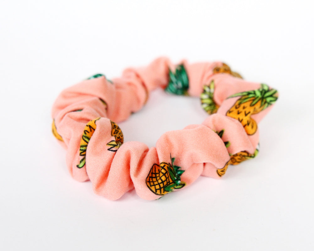 Pink Pineapple Mini Scrunchie