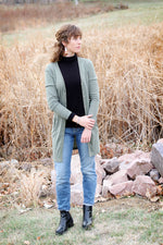 Rib Cardigan with Pockets