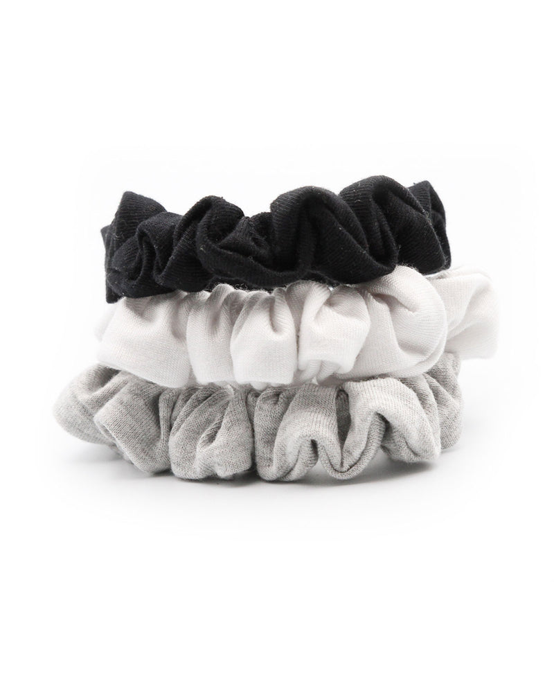Monochromatic Mini Scrunchie Set of 3