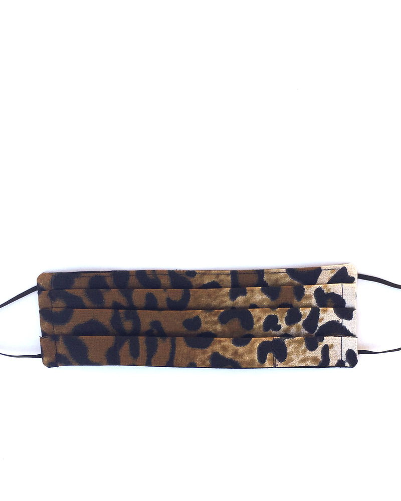 Adjustable Leopard Print Mask with Flexible Nose Piece