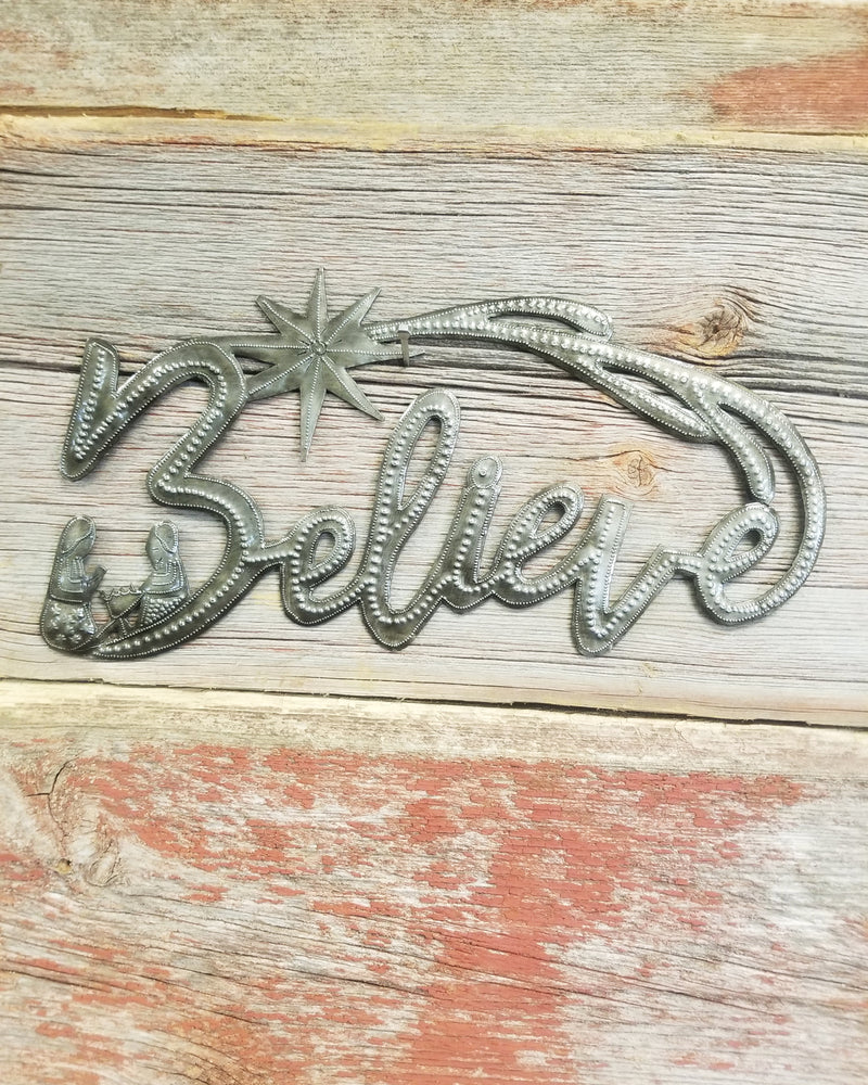 Believe Metal Art