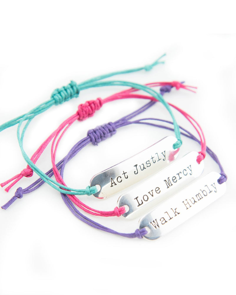 Micah 6:8 Bracelet Colorful