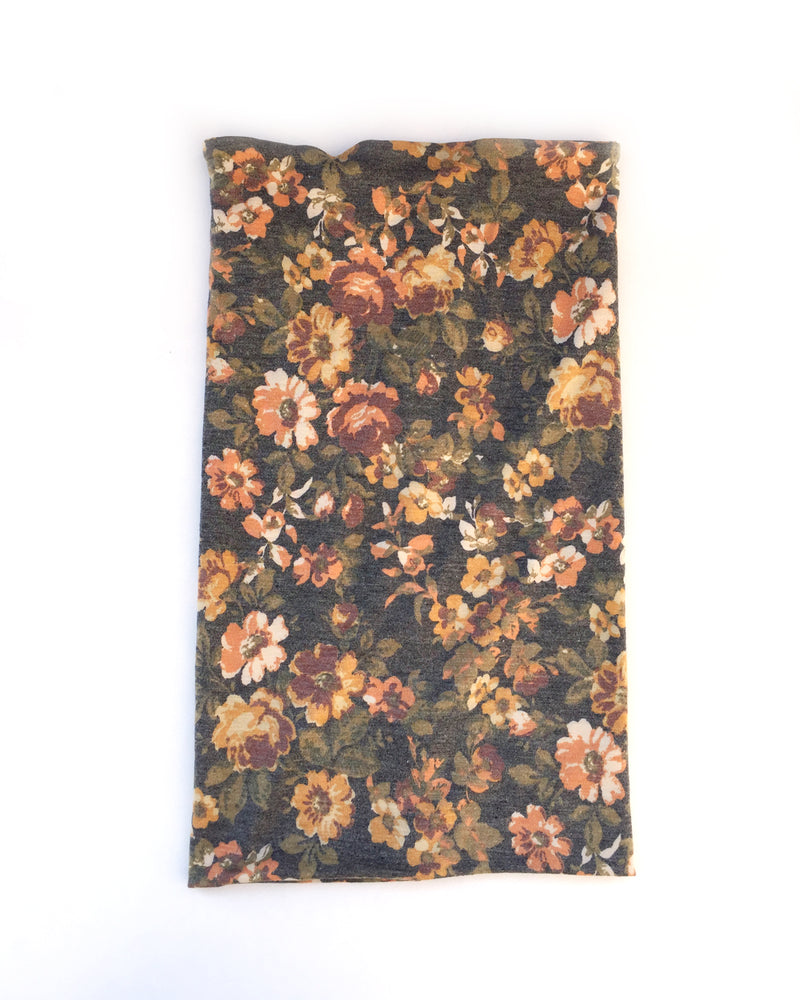 Fall Floral Gaiter Mask