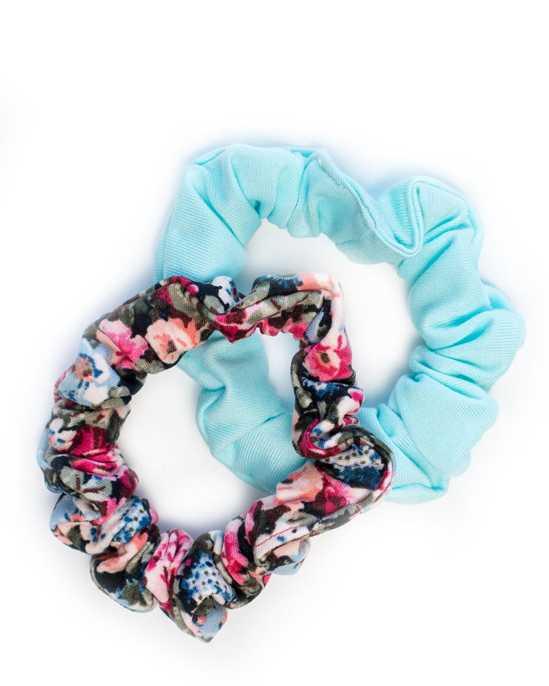 Mini Scrunchie Set of 2- Floral