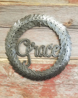 Grace Wreath Metal Art