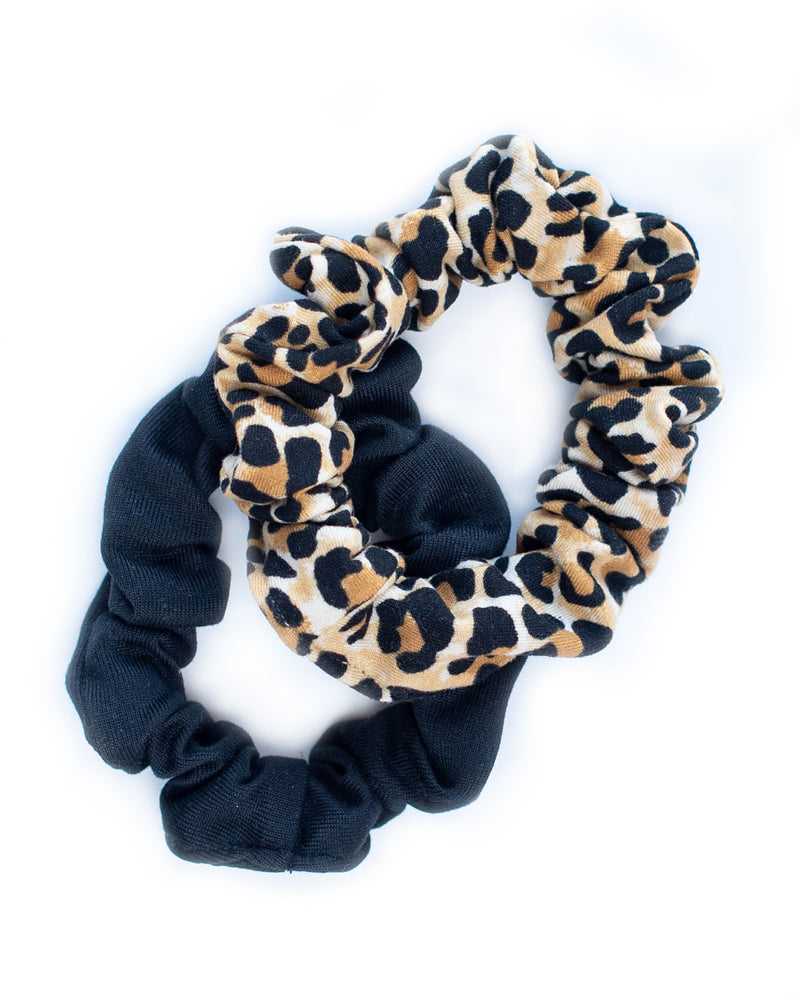 Mini Scrunchie Set of 2- Leopard Print
