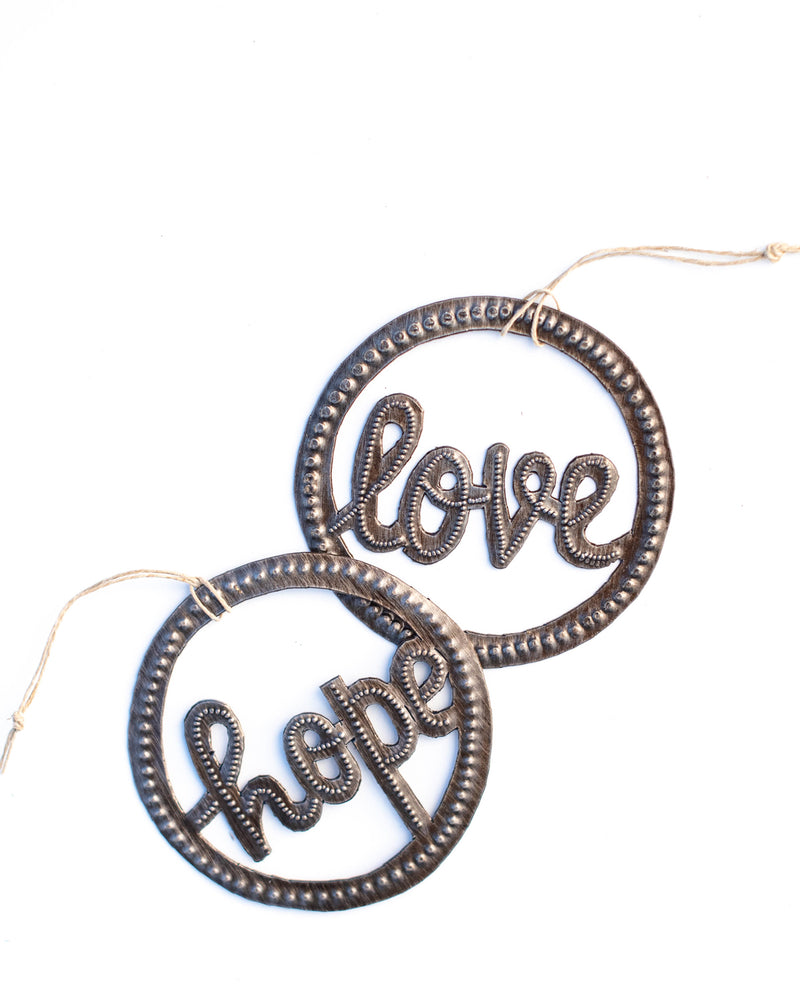 Hope Circle Metal Art Ornament