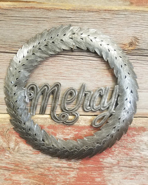 Mercy Wreath Metal Art