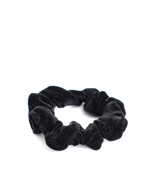 Black Velvet Mini Scrunchie