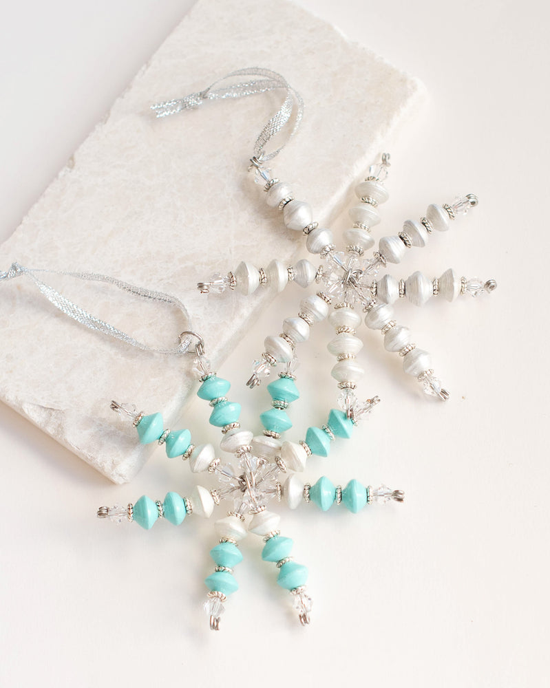 Mini Blue Snowflake Ornament