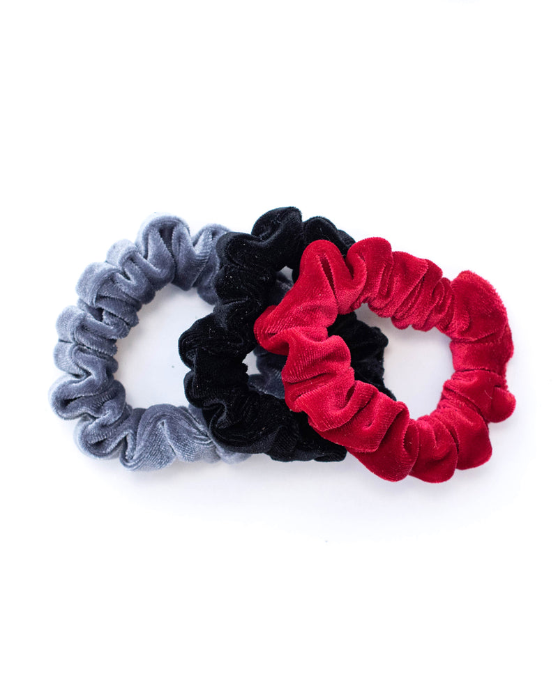Mini Scrunchie Set of 3 - Velvet Collection