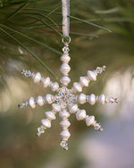 Mini White Snowflake Ornament