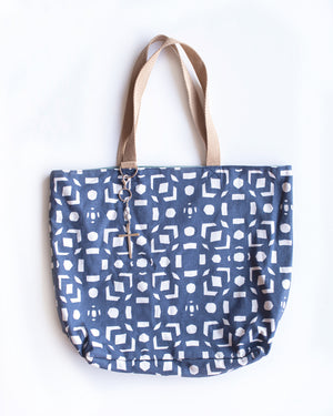 Hope Tote with Cross Tassel