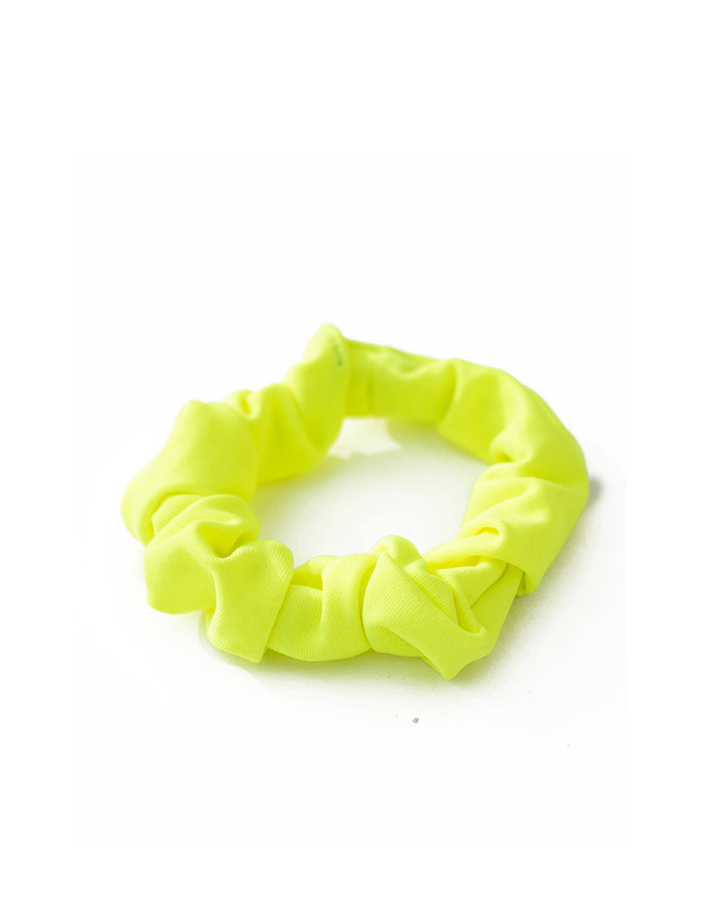 Neon Yellow Mini Scrunchie