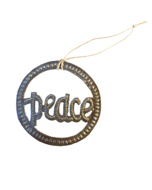 Peace Circle Metal Art Ornament