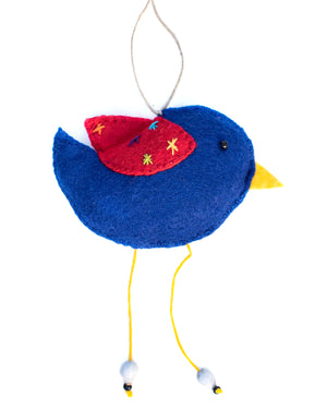 Royal Blue Bird Ornament