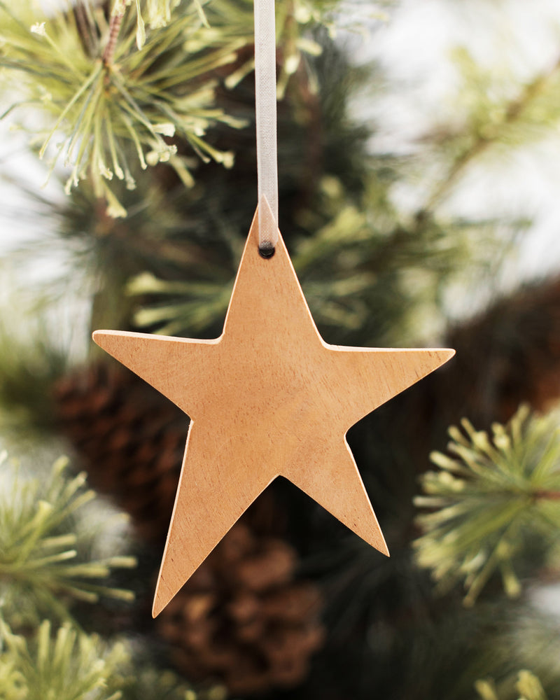Wood Star Ornament