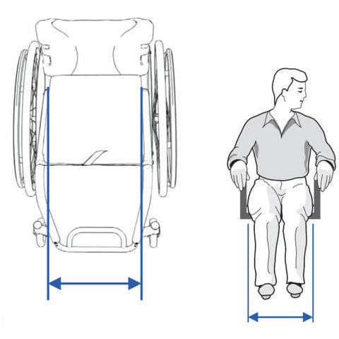 Seat Width  Wheelchair Measuring Guide